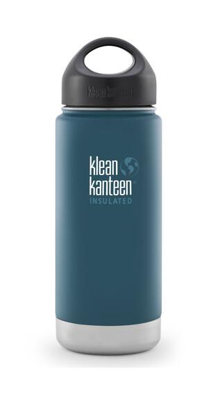 Klean Kanteen Wide Insulated Drinkfles met RVS Loop Cap, 473 ml petrol